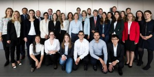 Students, lecturers and company representatives of St Gallen Institute of Management spring 2016